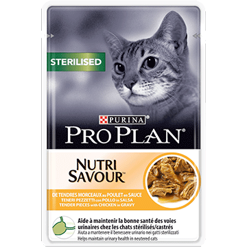 ​PURINA® PRO PLAN® STERILISED NUTRISAVOUR cu pui in sos