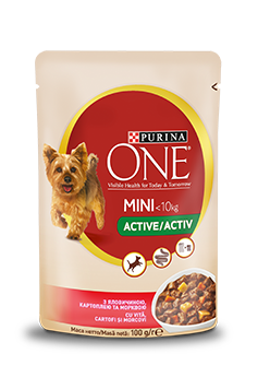 Purina One Mini ACTIVE, Vită și Cartofi