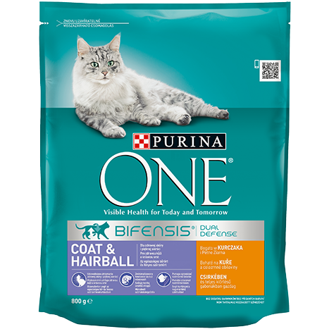 PURINA ONE Coat & Hairball cu Pui și Cereale Integrale