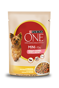 Purina One Mini WEIGHT CONTROL, Curcan și Morcovi