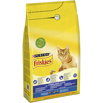 PURINA® FRISKIES® Sterilized Somon și Legume