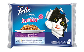 PURINA® FELIX® Junior Fantastic cu Pui Multipack
