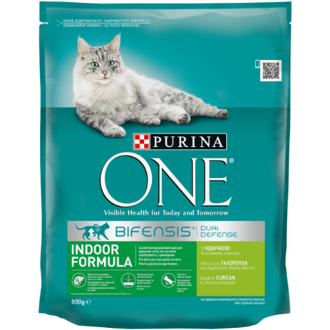 PURINA ONE INDOOR cu Curcan și Cereale Integrale